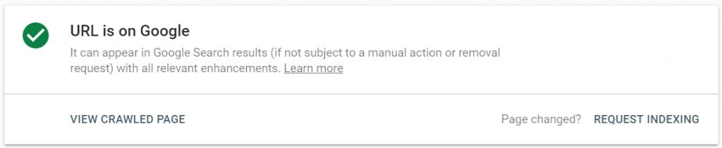 url адрес в Google